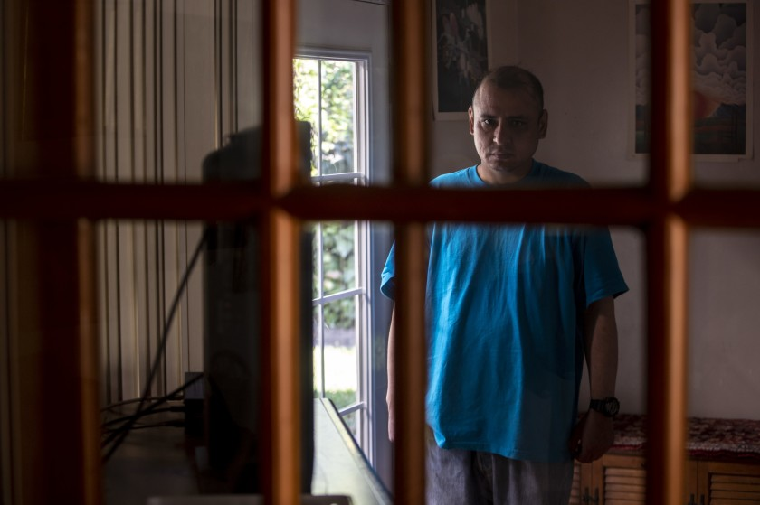 Louie Villalva has been a resident of the Blake Home in Sylmar for more than eight years. Funding problems could cause the board-and-care home to close. He is shown in an undated photo.(Credit: Brian van der Brug/Los Angeles Times)