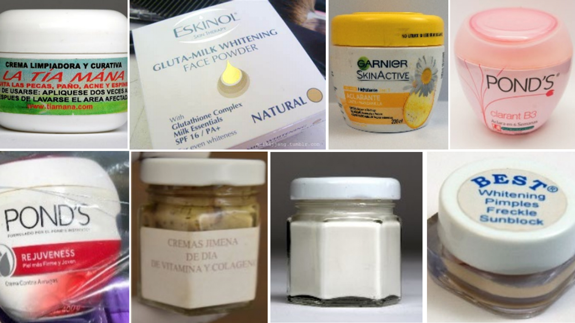 Products found to be containing dangerous levels of mercury are seen in photos provided by the California Department of Public Health.