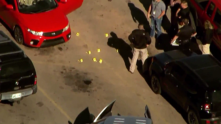 Three people were fatally shot outside a Walmart in Oklahoma on Nov. 18, 2019. (Credit: KFOR)