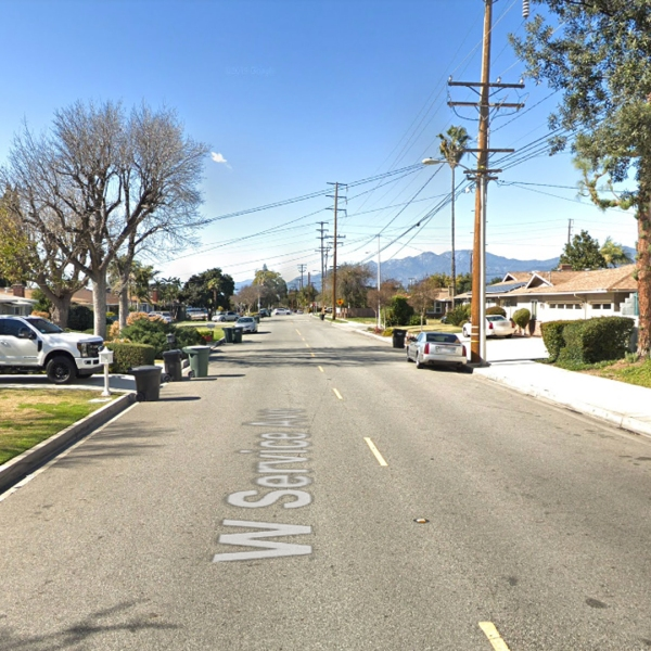 The 900 block of West Service Avenue in West Covina, as viewed in a Google Street View image.