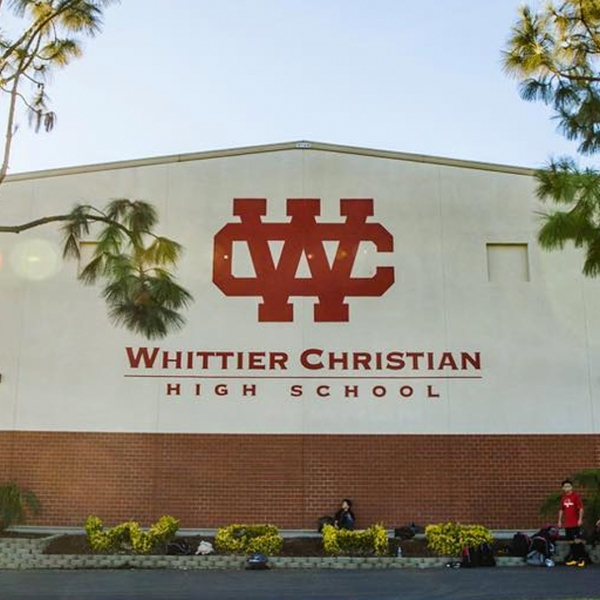 Whittier Christian High School in La Habra is seen in this image posted to the school's Facebook page.