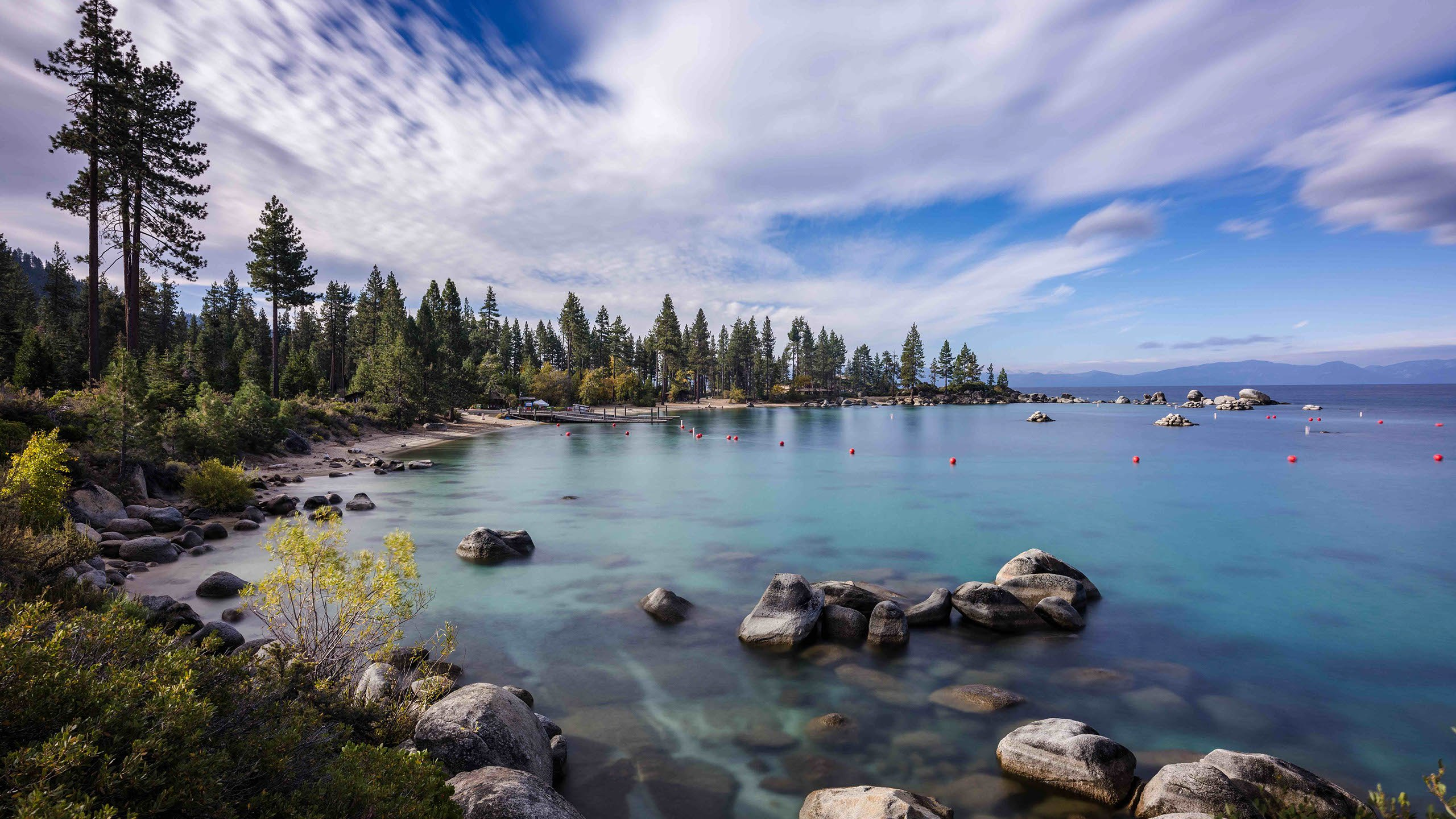 Sand Harbor at Lake Tahoe is viewed from East Shore, Nevada, in this undated photo. (Credit: Ryland West / Tahoe Timescape)