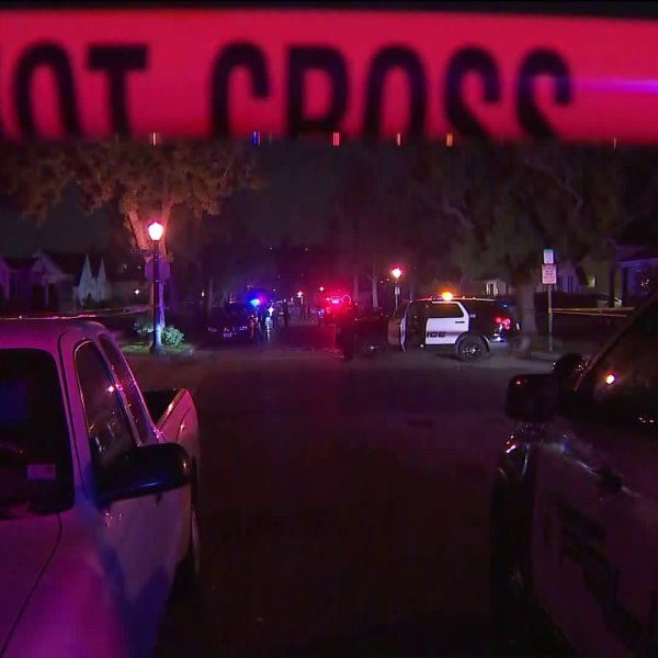 Police respond to an incident in the 1900 block of South Primrose Avenue on Dec. 28, 2019. (Credit: KTLA)