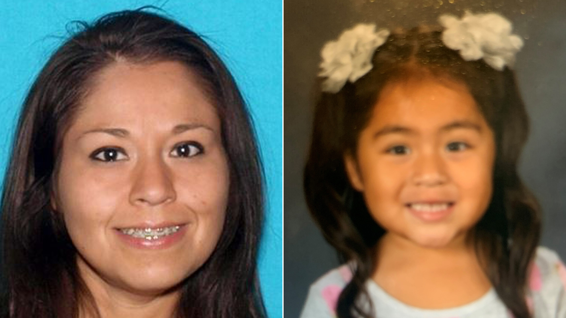Christina Lujan, 39, left and Josephine Lujan, 3, pictured in an Amber Alert issued by the California Highway Patrol on Dec. 27, 2019.