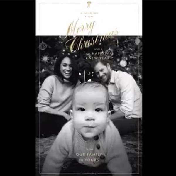 The Queen's Commonwealth Trust tweeted the first Christmas card from the Duke and Duchess of Sussex and baby Archie on Dec. 24, 2019.
