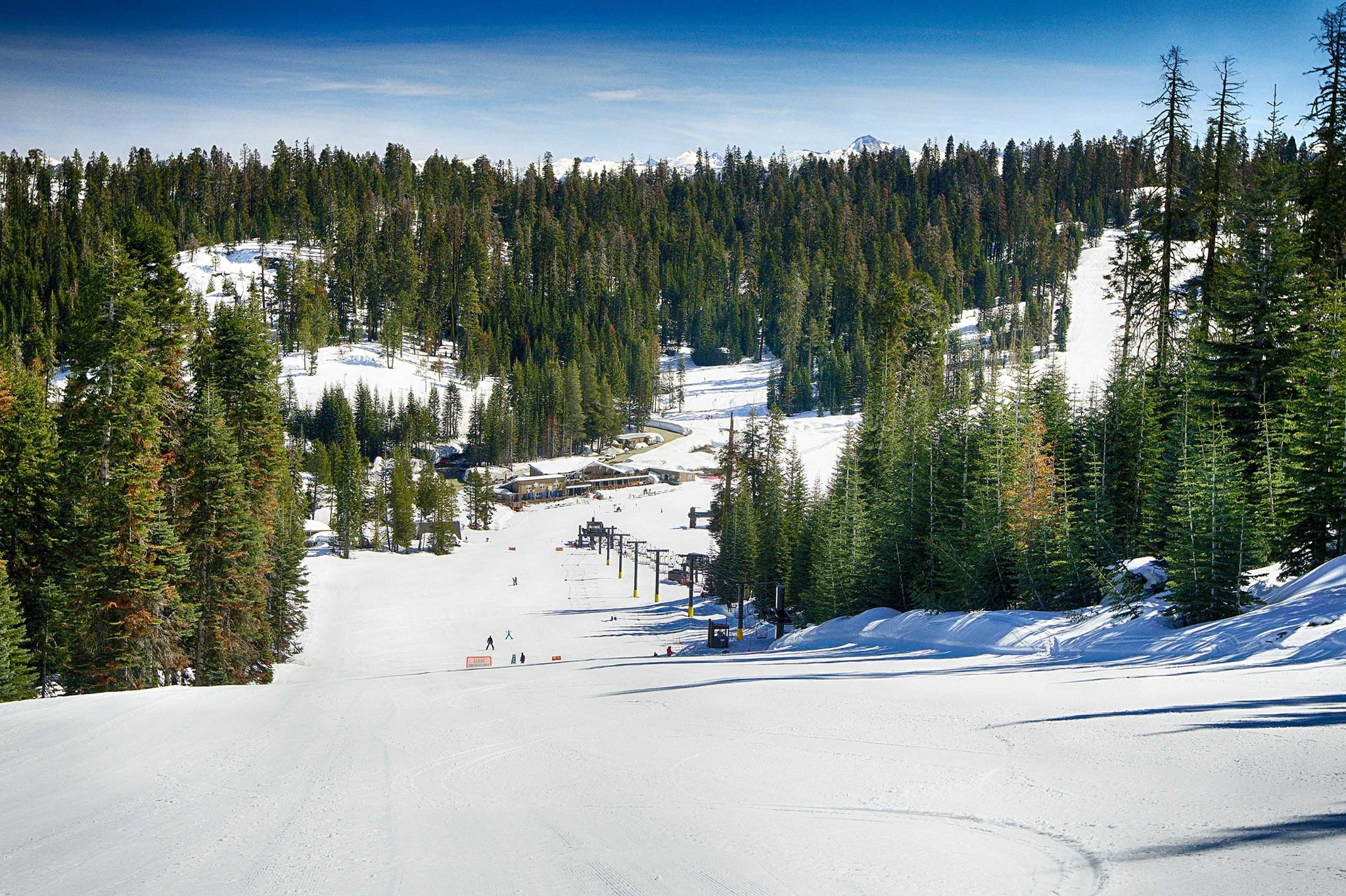 Badger Pass Ski Area is shown in a photo posted to the resort's Facebook page on April 3, 2017. (Credit: Chris Falkenstein)