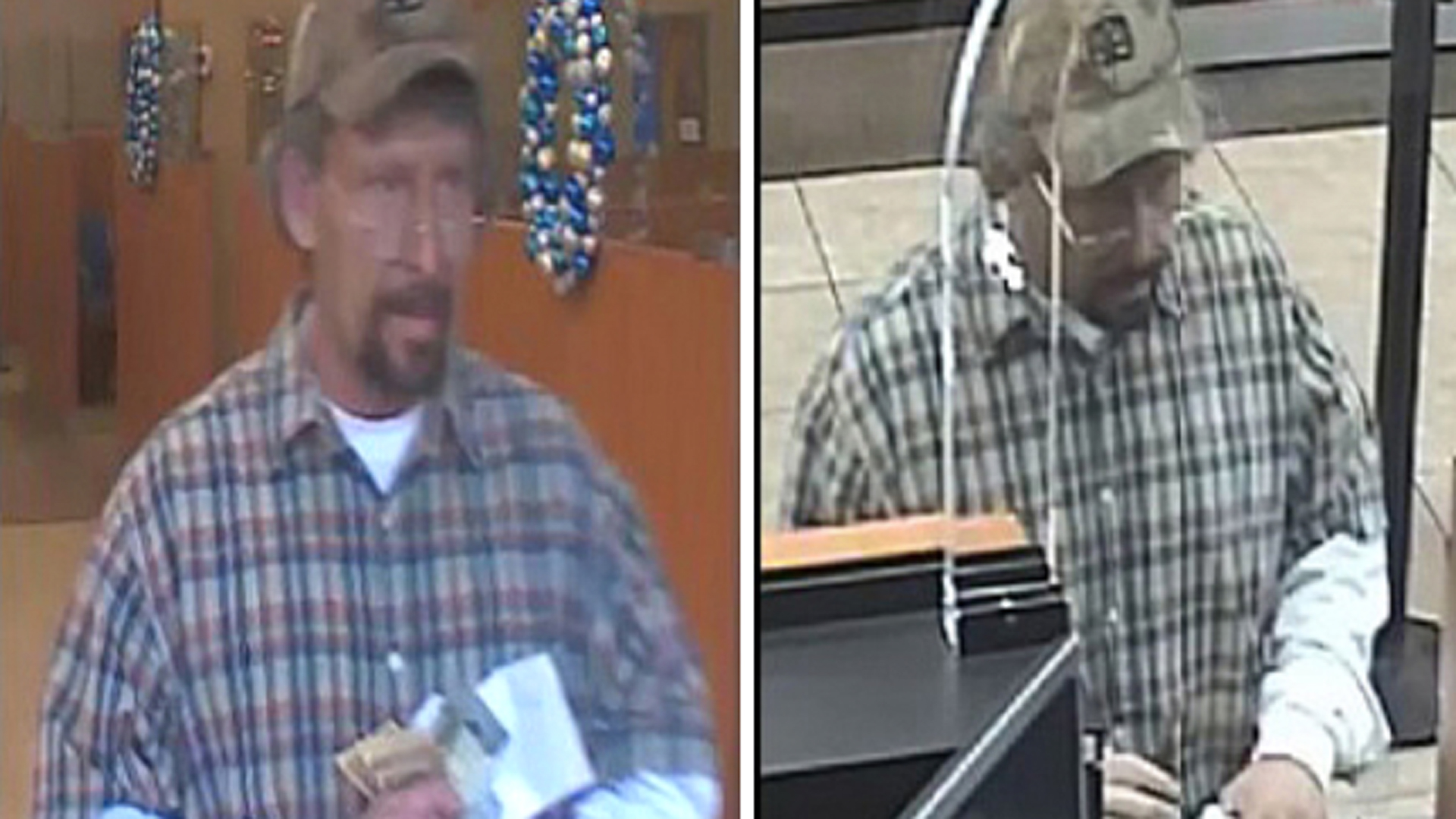 A bank robbery suspect is seen in an image provided by the Riverside County Sheriff's Department on Dec. 11, 2019.