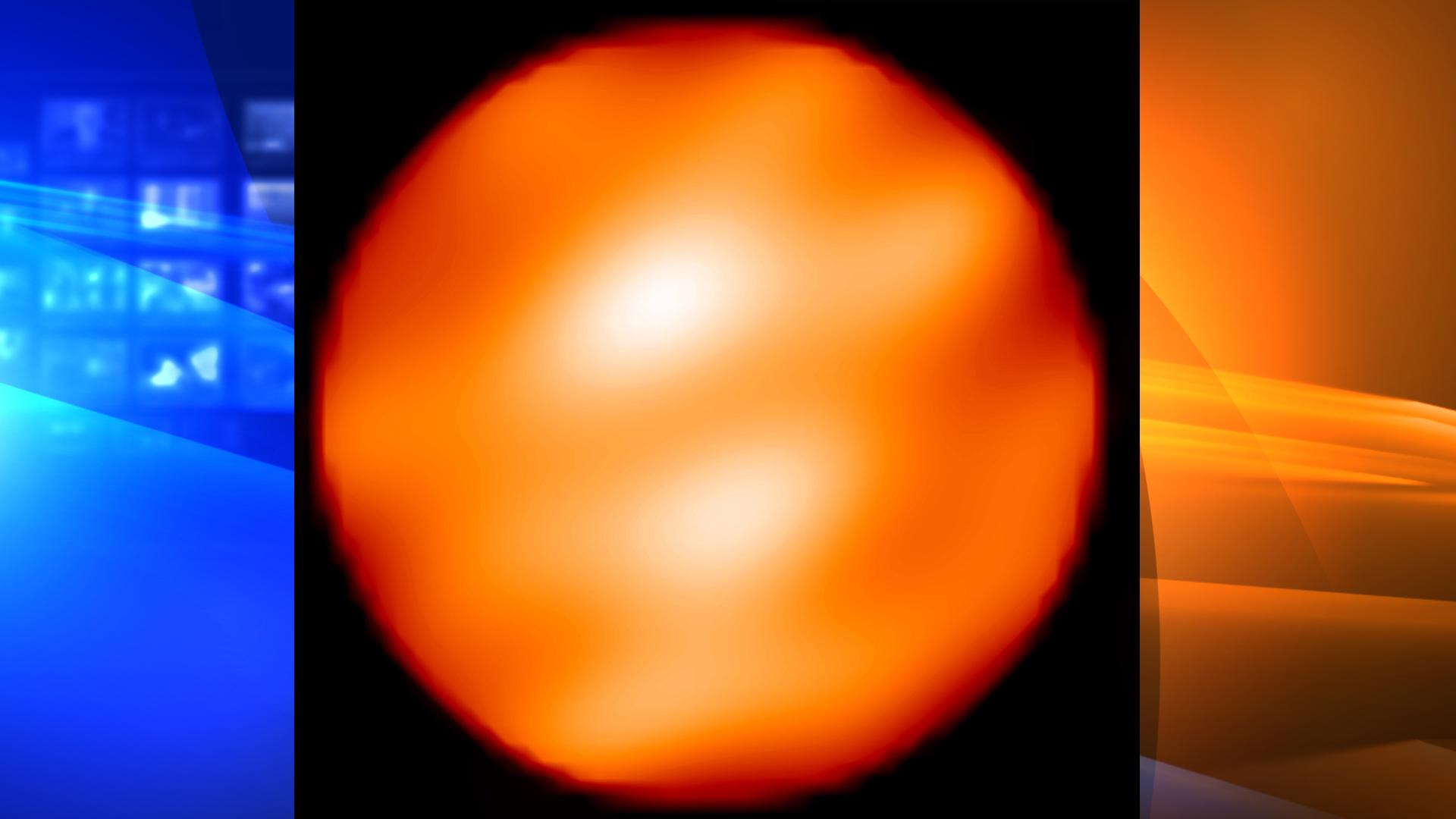 Giant red star, Betelgeus, on Jan. 6, 2010. (Credit: NASA)