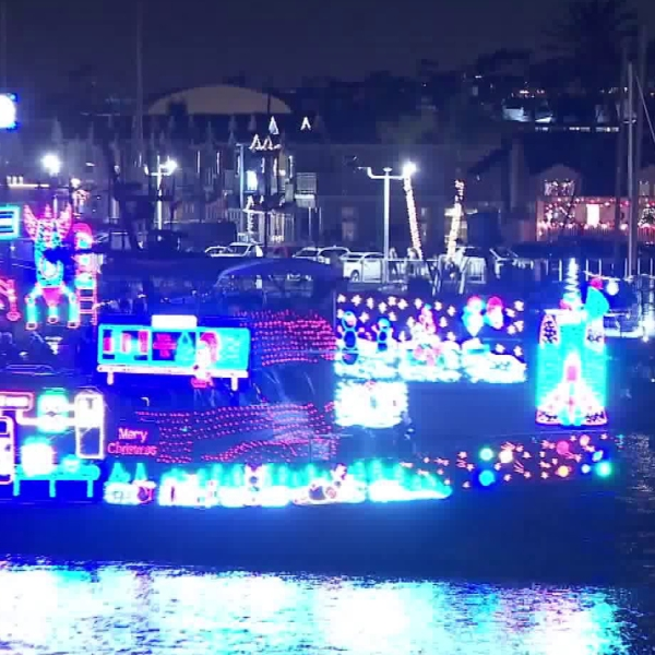 2019 Boat Parade on Dec. 18, 2019. (Credit: KTLA)