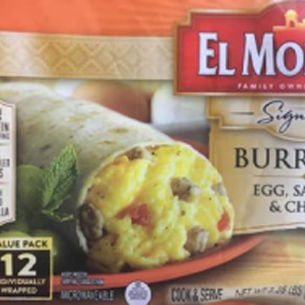 USDA released this photo of the recalled burrito packaging on Dec. 10, 2019.