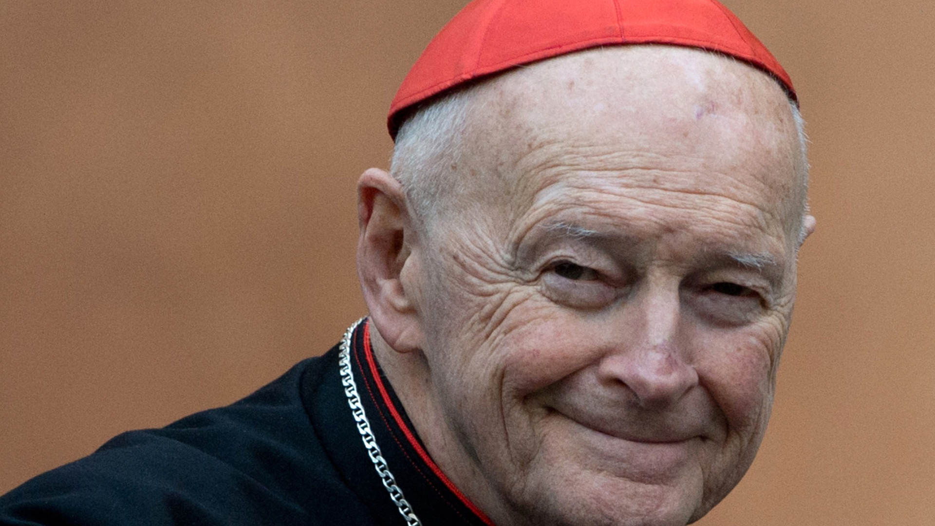 U.S. Cardinal Theodore Edgar McCarrick arrives for a meeting on the eve of the start of a conclave on March 11, 2013, at the Vatican. (Credit: JOHANNES EISELE/AFP via Getty Images)