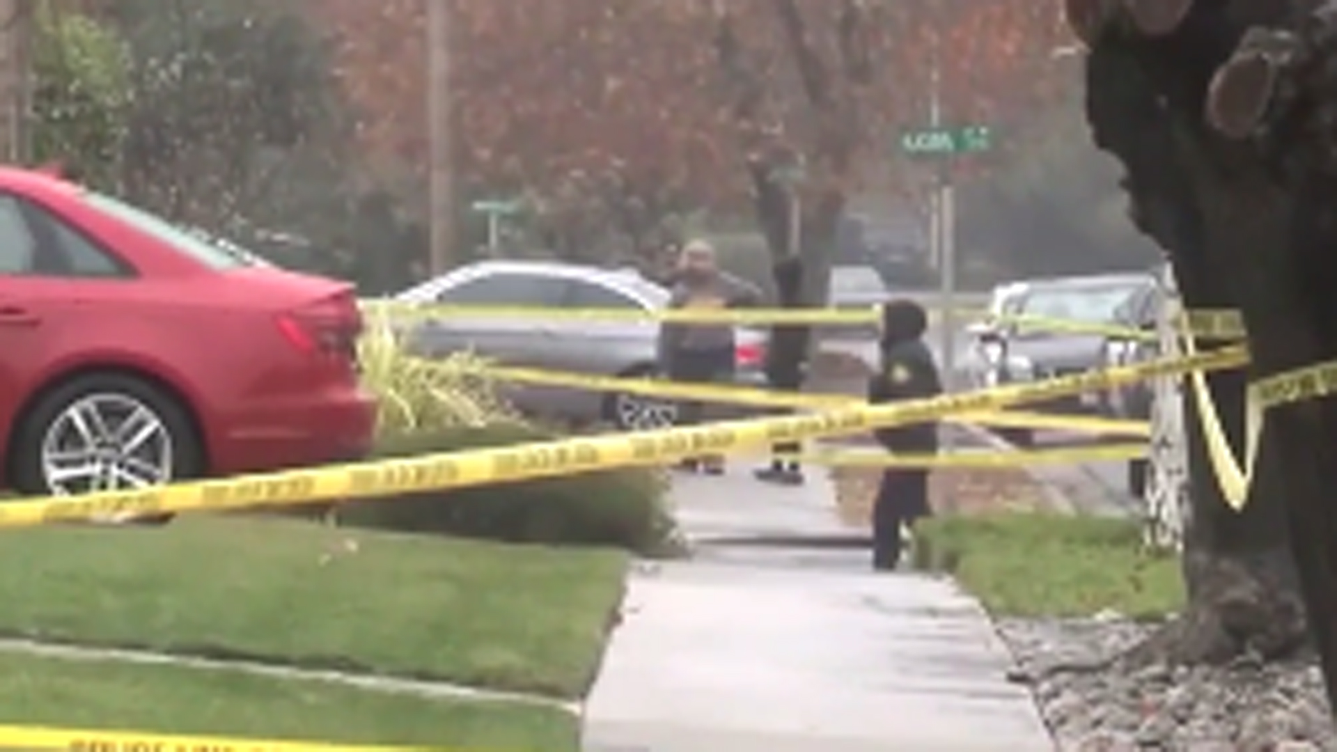 Police investigate a fatal officer-involved shooting in Concord on Dec. 1, 2019. (Credit: KPIX)
