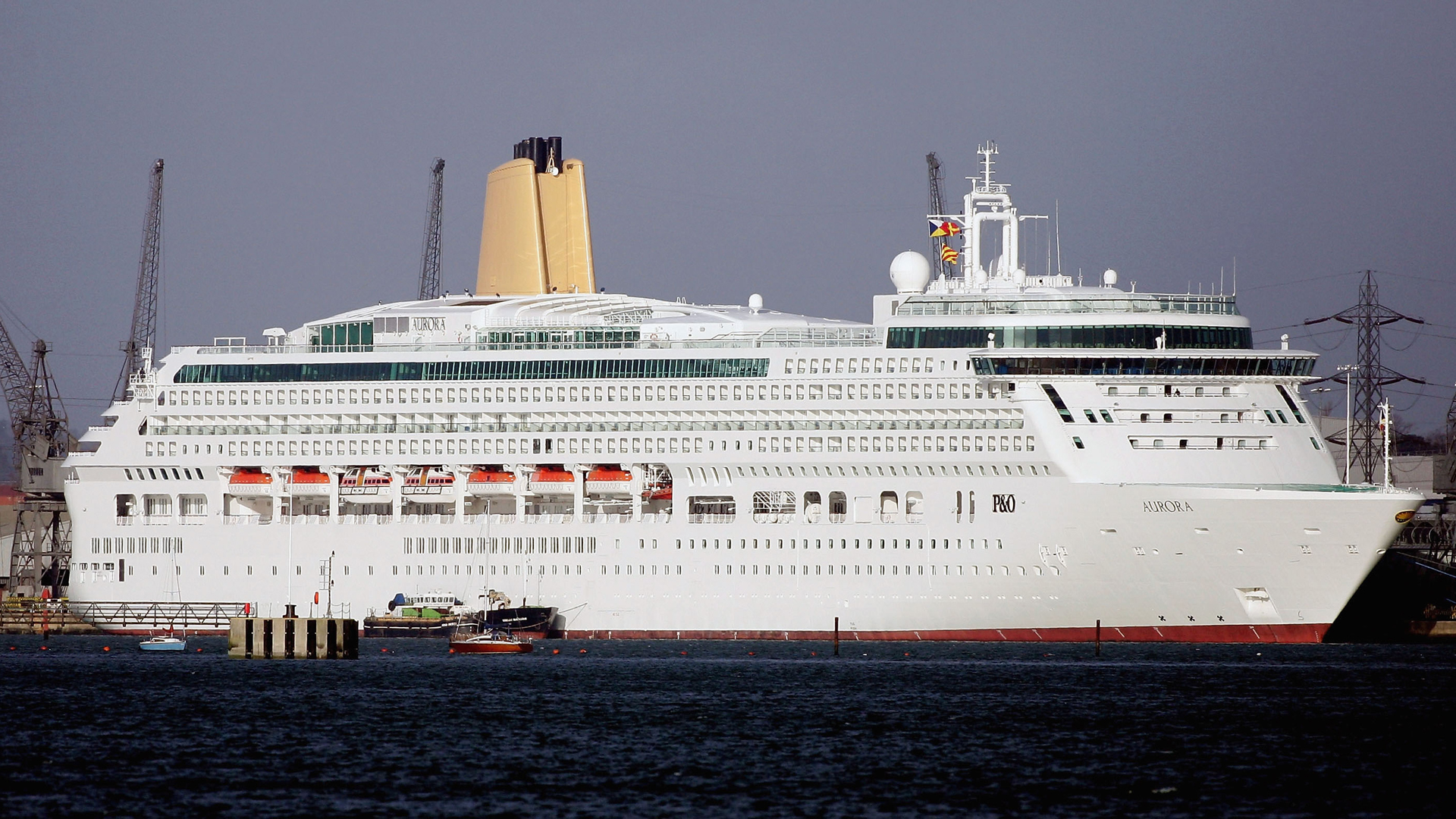 A cruise ship is seen docked in Southampton, England, in this file photo from Jan. 21, 2006. (Credit: Graeme Robertson/Getty Images)