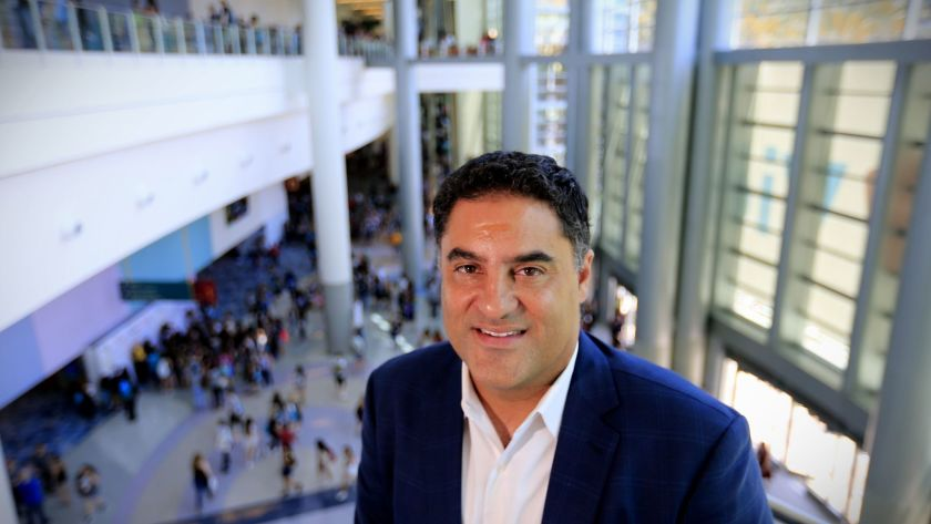 "Cenk Uygur, founder and co-host of ""The Young Turks"" online talk show, is seen in this undated photo. (Credit: Allen J. Schaben / Los Angeles Times)"