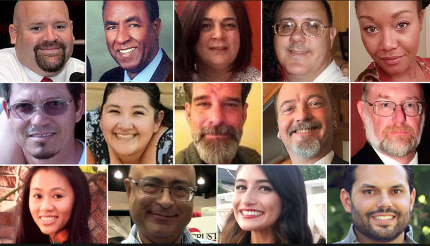 The 14 people killed in the 2015 San Bernardino terror attack. (Credit: Los Angeles Times)