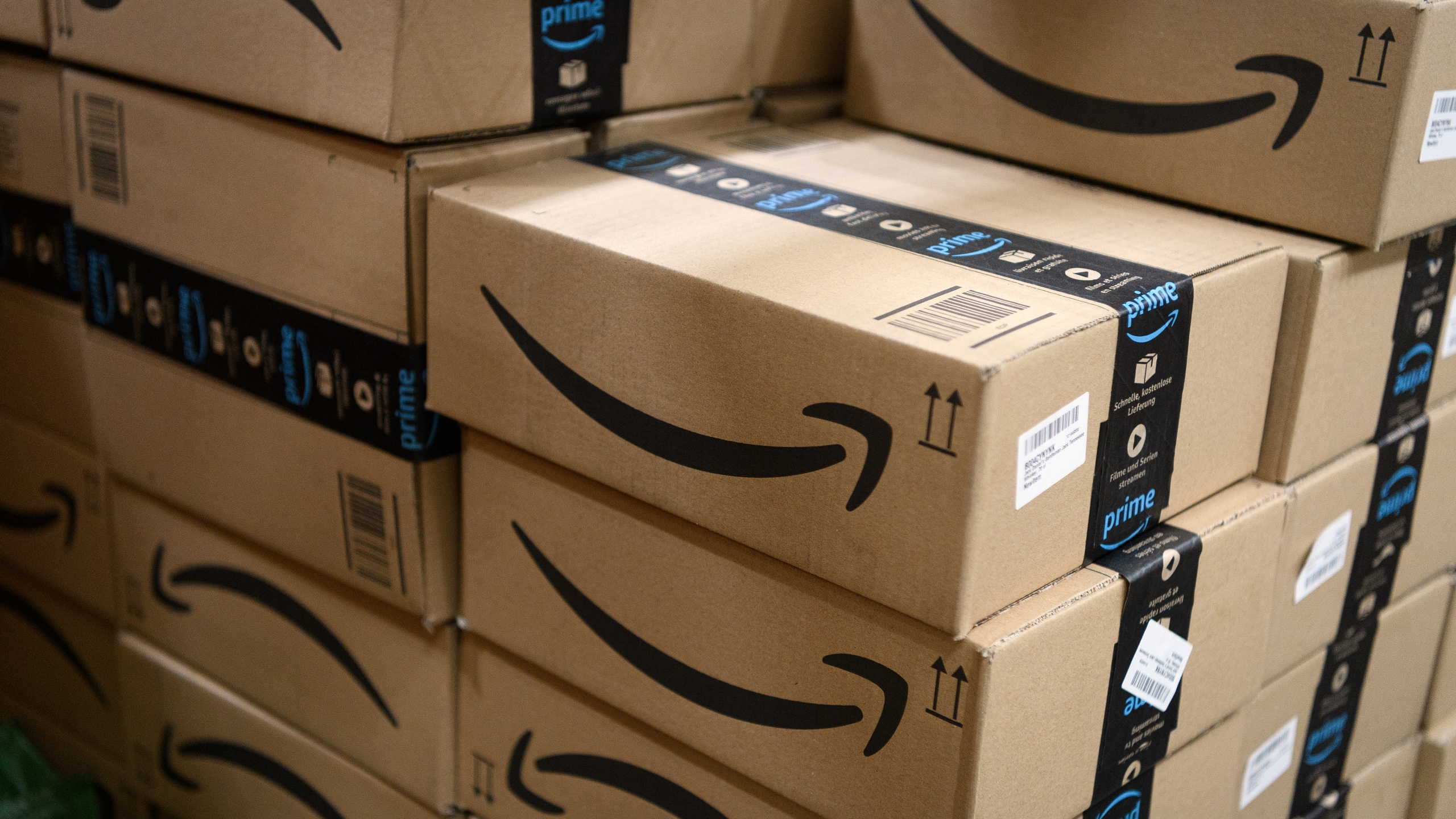Amazon Prime packages are seen in this file photo. (Leon Neal/Getty Images)