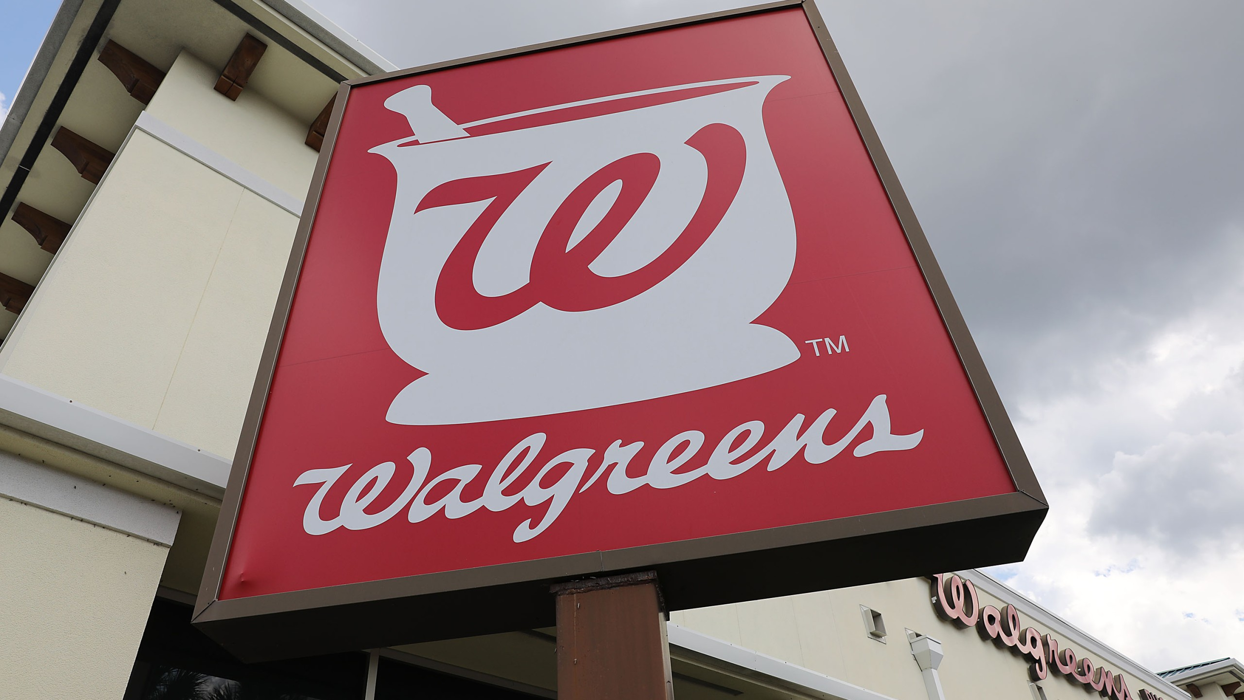 A Walgreens store is seen on April 02, 2019 (Credit: Joe Raedle/Getty)