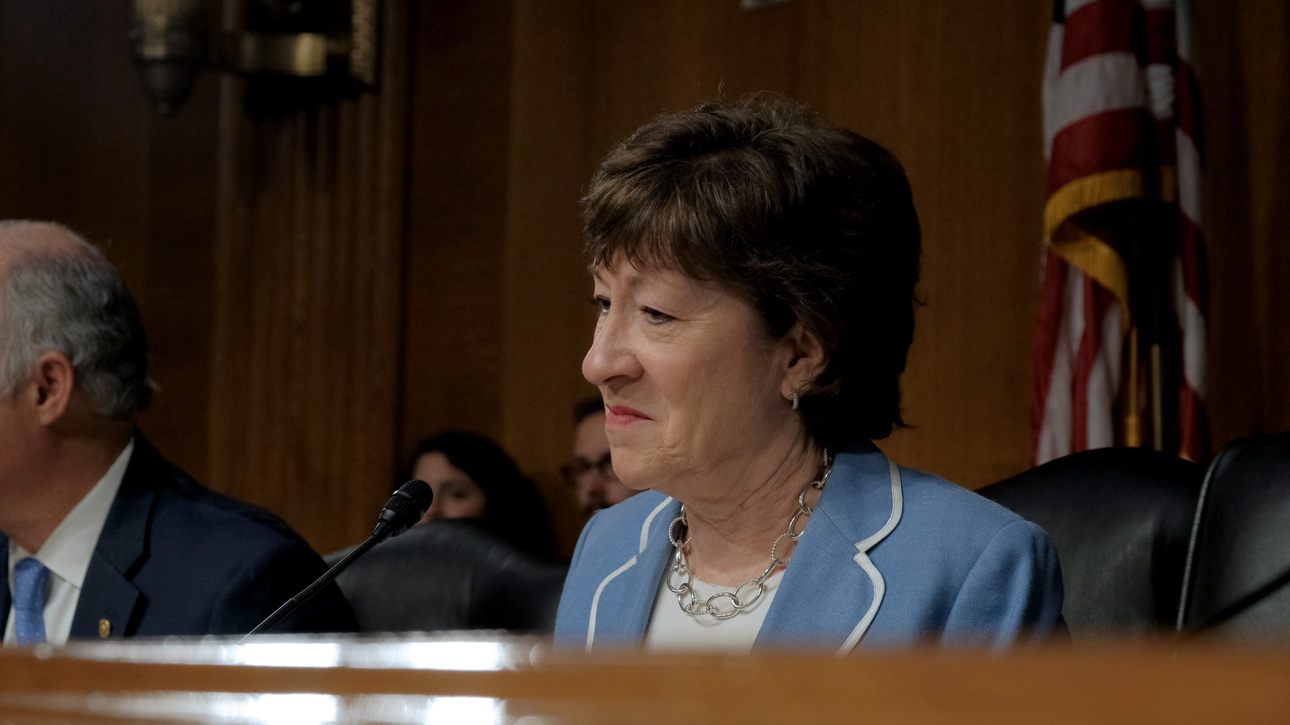 U.S. Senator Susan Collins speaks at the hearing on Type 1 Diabetes at the Dirksen Senate Office Building on July 10, 2019 in Washington, DC. (Credit:Jemal Countess/Getty Images)