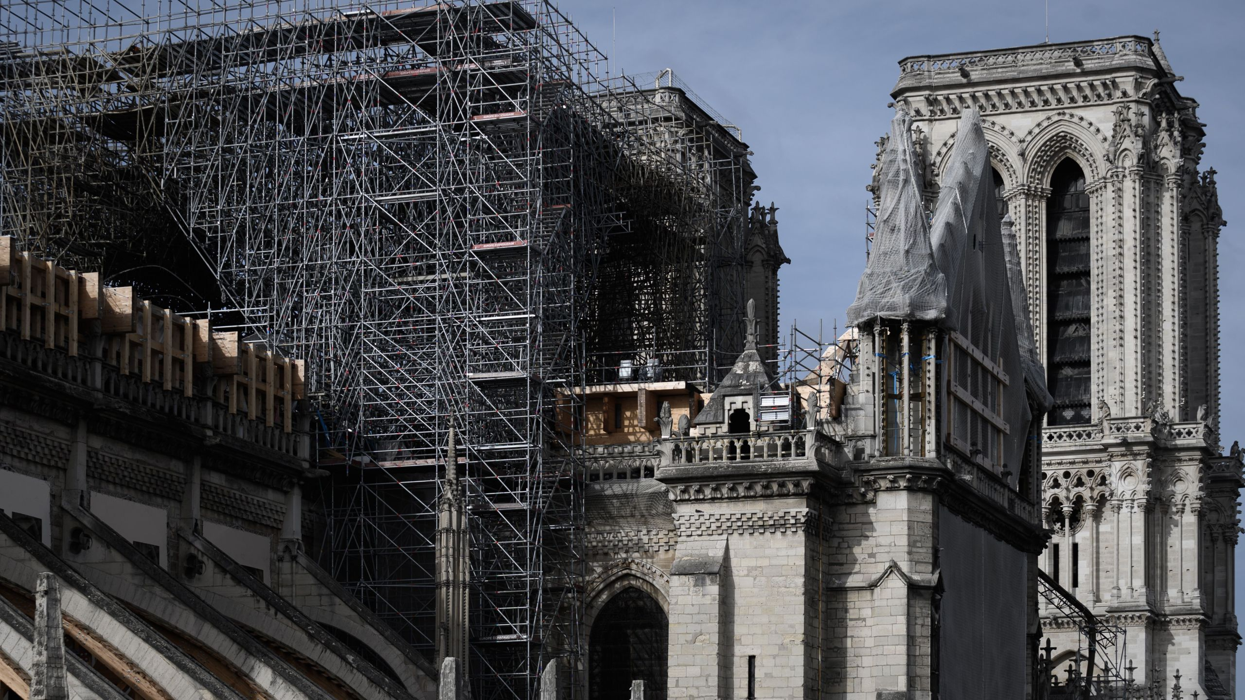 A picture taken on Oct. 4, 2019 shows the Notre-Dame Cathedral in Paris. (Credit: Philippe Lopez/AFP via Getty Images)