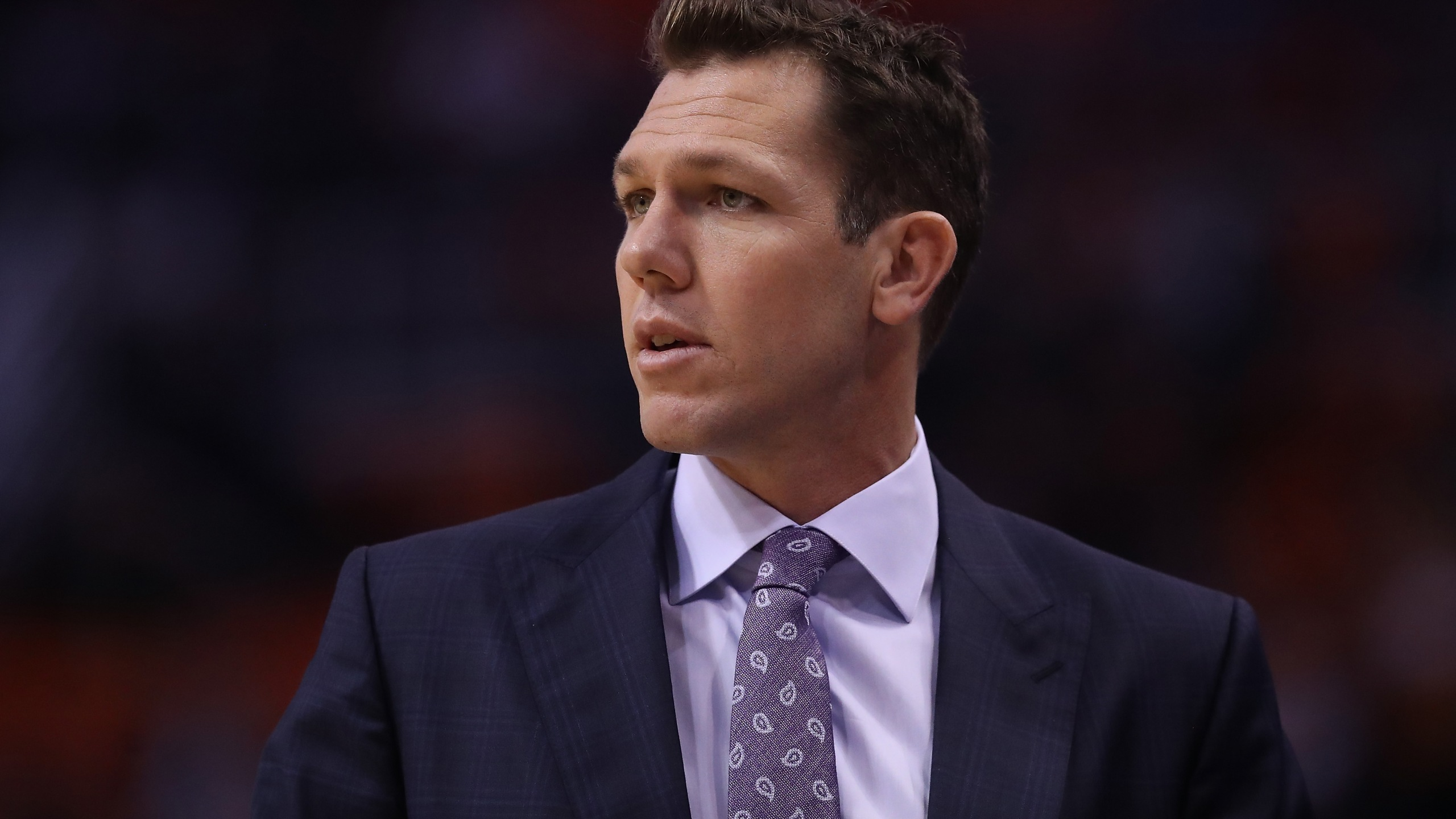Head coach Luke Walton of the Sacramento Kings is seen during the first half of the NBA game against the Phoenix Suns in Arizona on Oct. 23, 2019. (Credit: Christian Petersen / Getty Images)