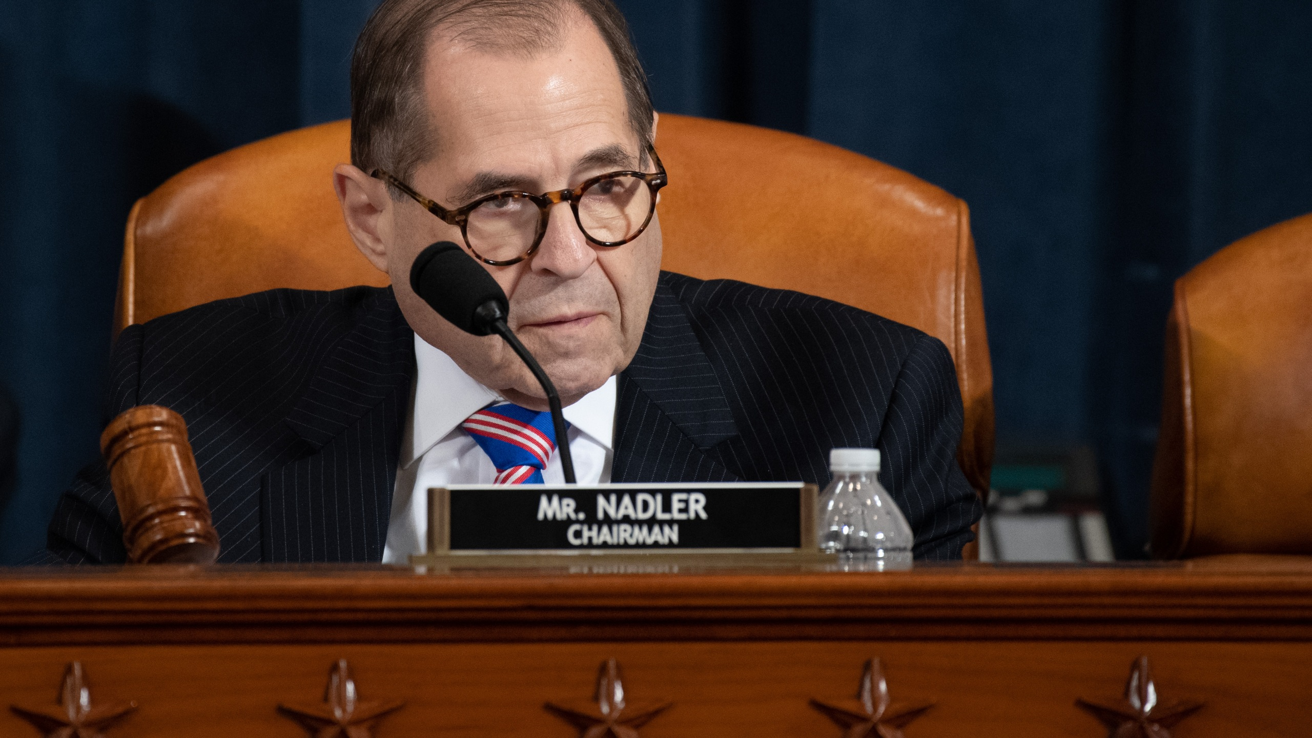 House Judiciary Chairman Rep. Jerry Nadler (D-NY) speaks during testimony by constitutional scholars before the House Judiciary Committee in the Longworth House Office Building on Capitol Hill Dec. 4, 2019, in Washington, D.C. (Credit: Saul Loeb-Pool/Getty Images)