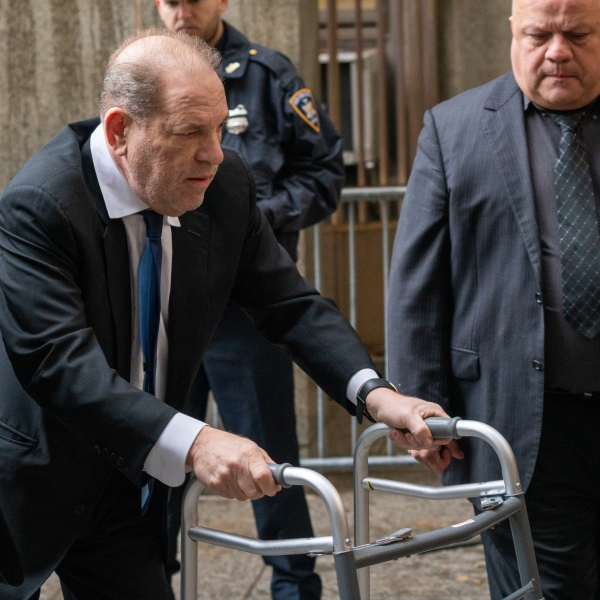 Movie producer Harvey Weinstein arrives at criminal court in New York City on Dec. 11, 2019. (Credit: David Dee Delgado / Getty Images)