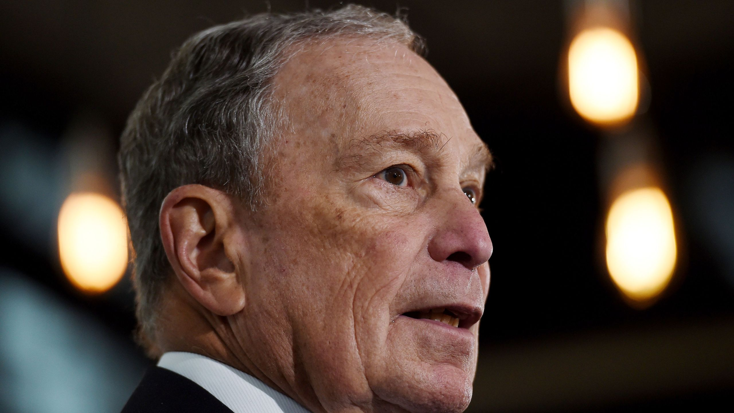 Former New York Mayor and Democratic presidential candidate Michael Bloomberg speaks about his plan for clean energy during a campaign event in Alexandria, Virginia, on Dec. 13, 2019. (Credit: OLIVIER DOULIERY/AFP via Getty Images)