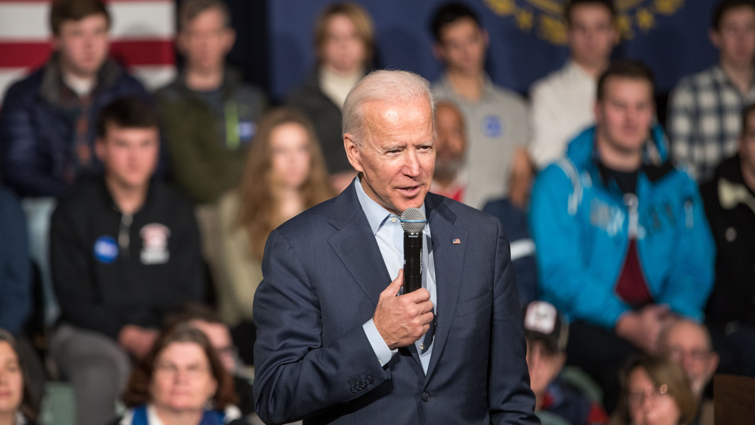 Democratic presidential candidate, former Vice President Joe Biden speaks during a campaign town hall on Dec. 30, 2019 in Exeter, New Hampshire. (Credit: Scott Eisen/Getty Images)
