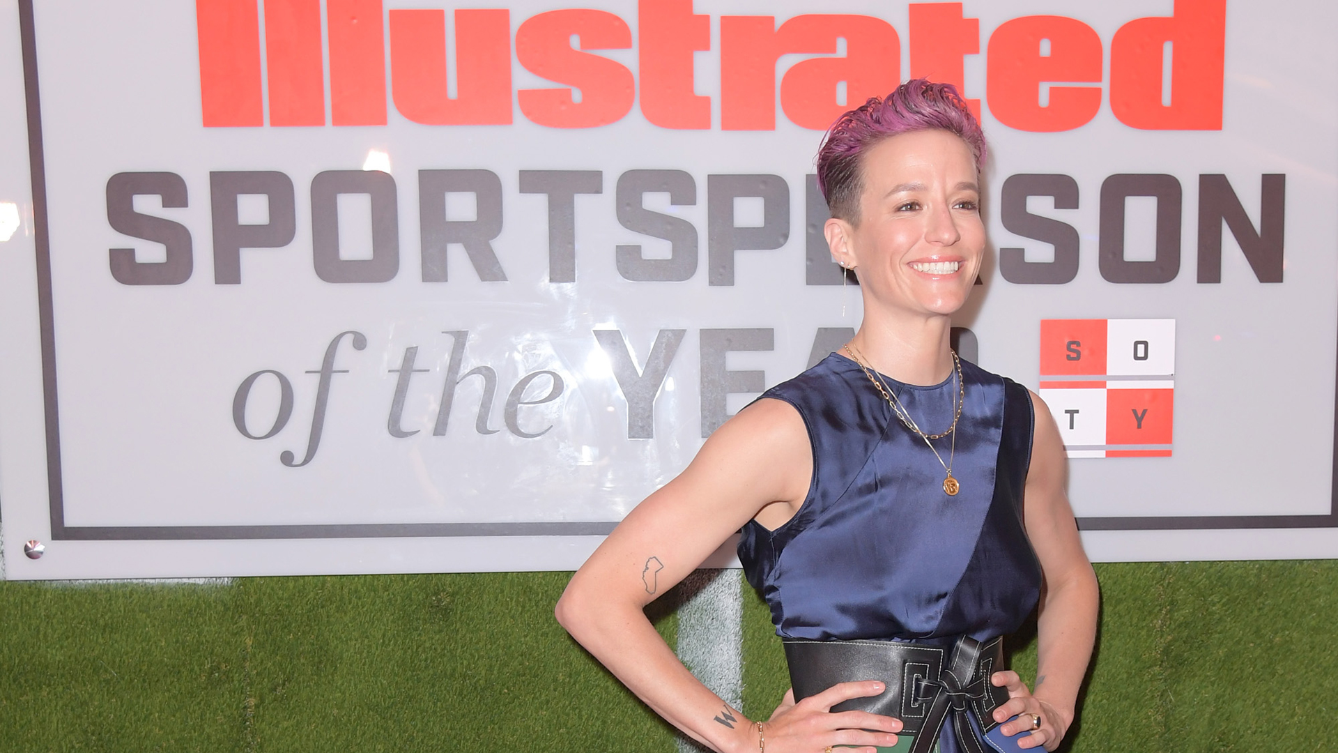 Professional Soccer Player Megan Rapinoe attends the 2019 Sports Illustrated Sportsperson Of The Year at The Ziegfeld Ballroom in New York City on Dec. 9, 2019 (Credit: Michael Loccisano/Getty Images)