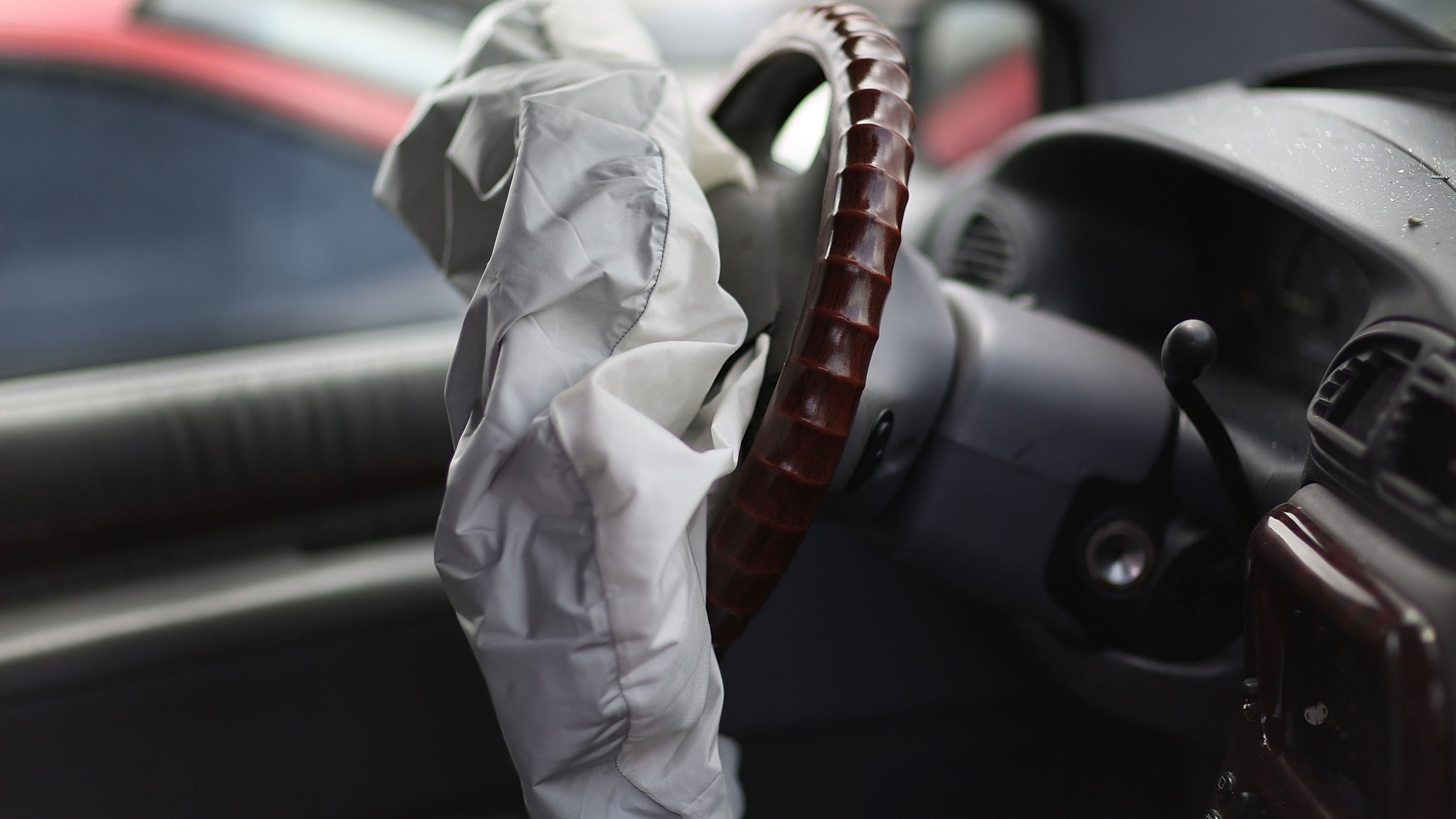 A deployed airbag is seen in this file photo. (Credit: Joe Raedle/Getty Images)