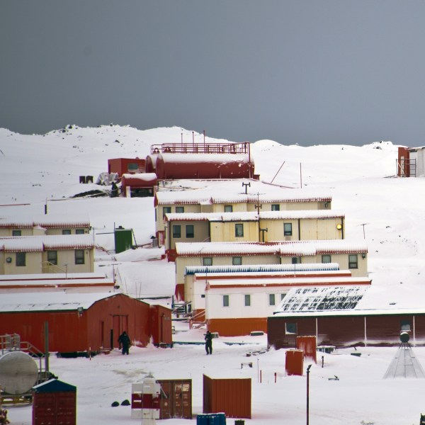 Chile's military base Presidente Eduardo Frei, on the King George island in Antarctica, is seen on March 13, 2014. (Credit: VANDERLEI ALMEIDA / AFP / Getty Images)