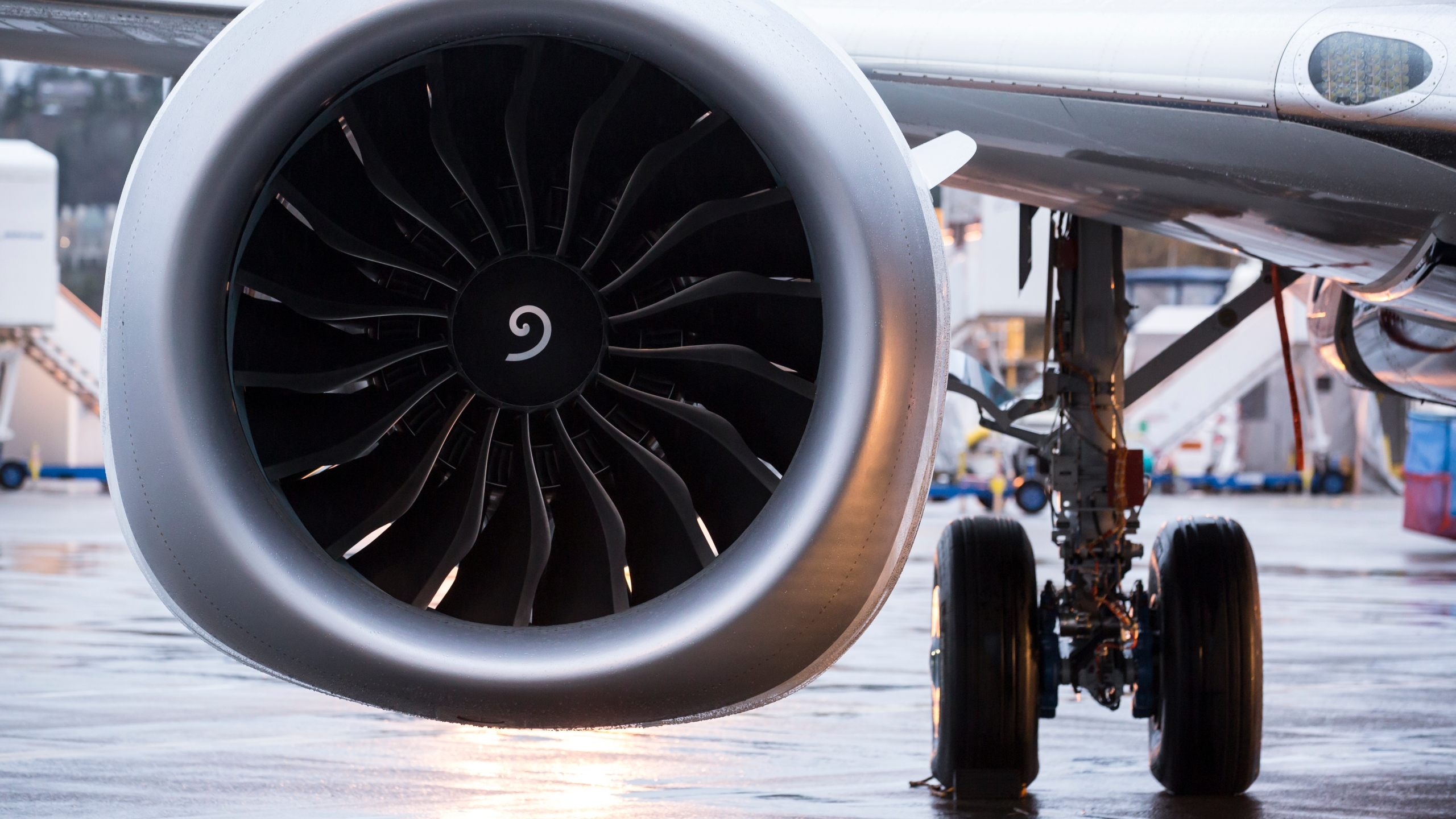 A plane engine is seen in this file photo from Dec. 8, 2015.(Credit: Stephen Brashear/Getty Images)
