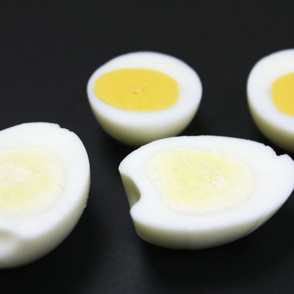 Boiled eggs are seen on Sept. 30, 2004, in Tokyo. (Credit: Junko Kimura/Getty Images)