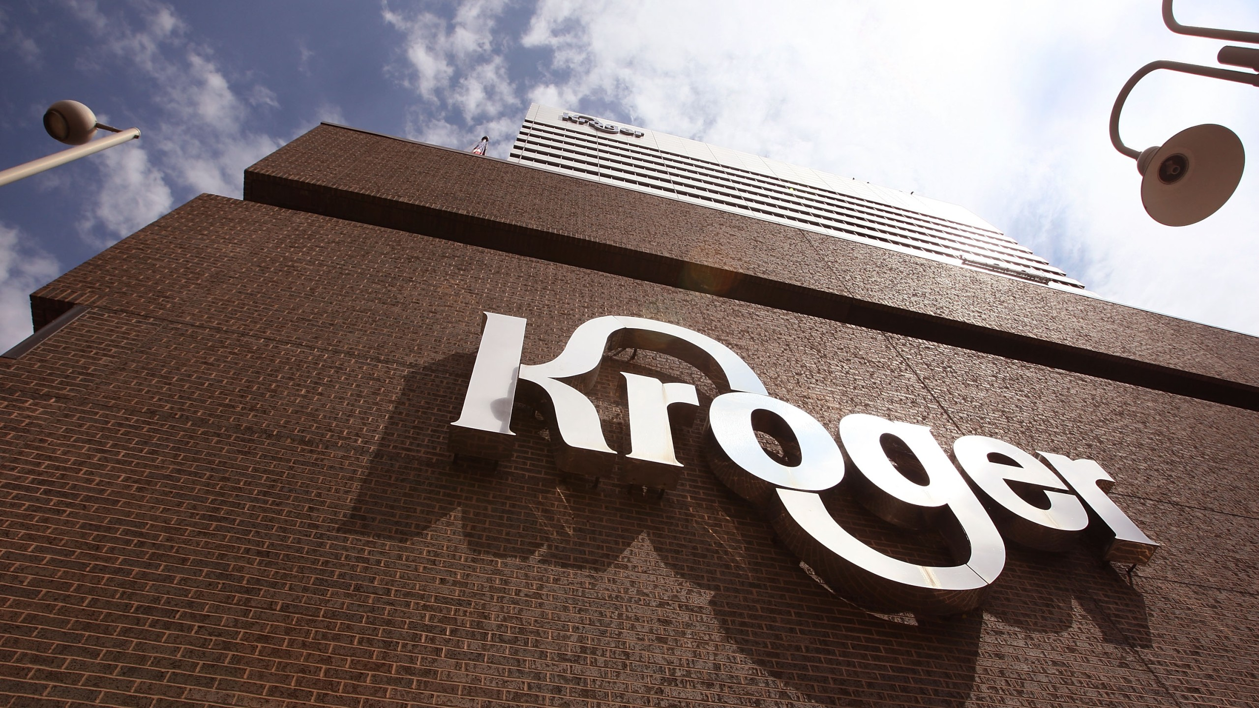The Kroger Co. corporate headquarters is seen on July 15, 2008, in Cincinnati, Ohio. (Credit: Scott Olson/Getty Images)