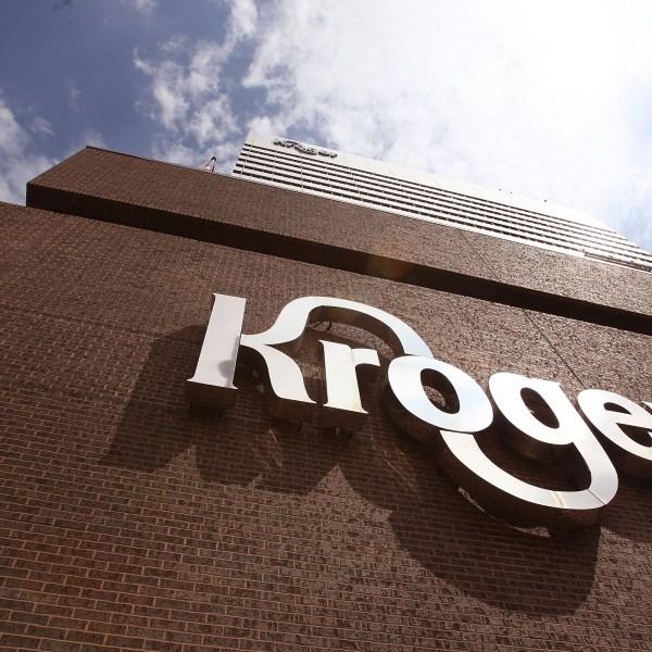 The Kroger Co. corporate headquarters is seen on July 15, 2008, in Cincinnati, Ohio. (Credit: Scott Olson/Getty Images)