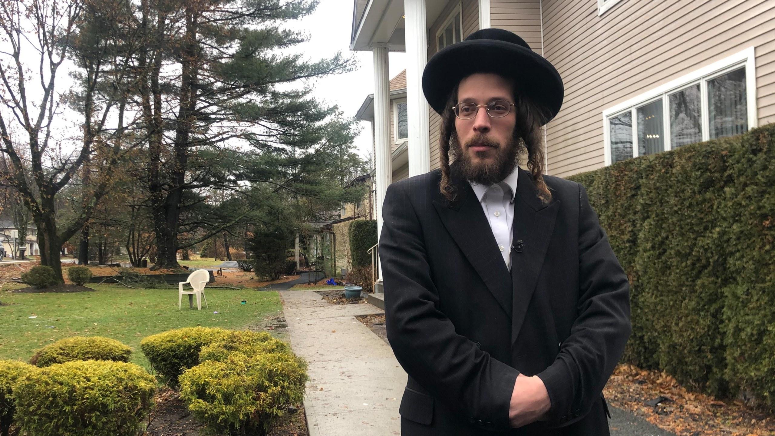 Josef Gluck, a survivor in the NY Hanukkah stabbing pictured on Dec 30, 2019.