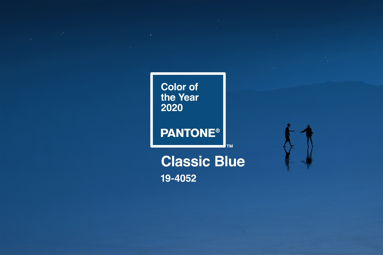 Classic Blue, Pantone's color of the year for 2020, is seen in a photo provided by the institute.
