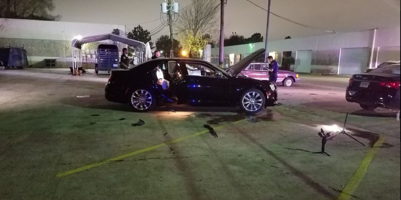 The scene of a shooting in Texas on Dec. 27, 2019. (Credit: Harris County Sheriff's Office via CNN)
