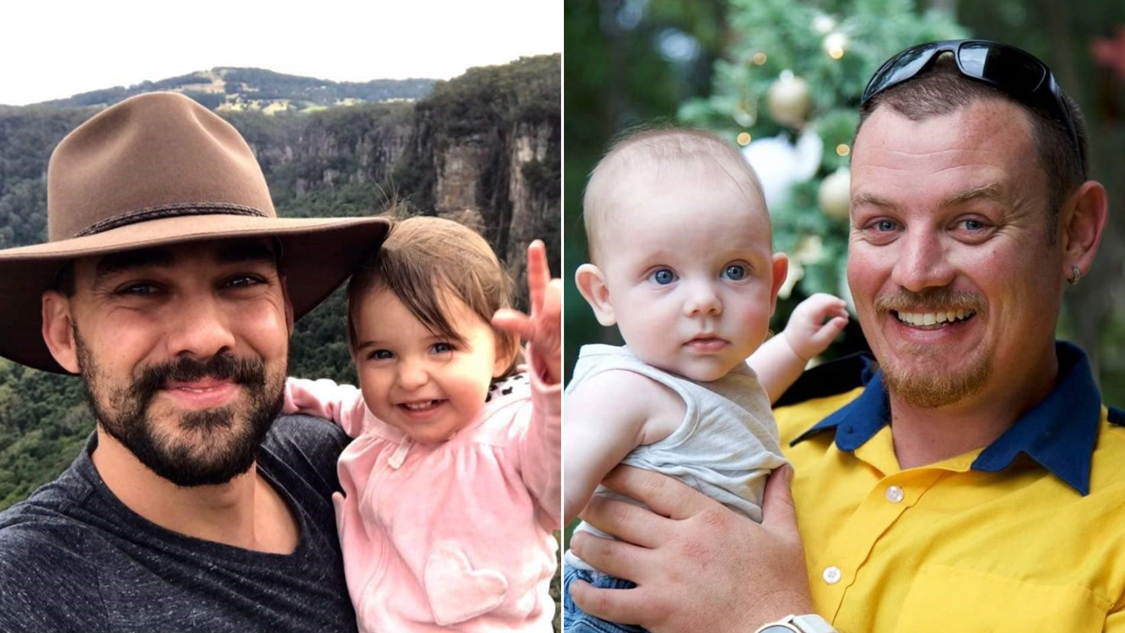 Firefighters Andrew O'Dwyer (left) and Geoffrey Keaton (right) died during firefighting operations as bushfires ravage New South Wales. (Credit: NSW Rural Fire Service via CNN Wire)