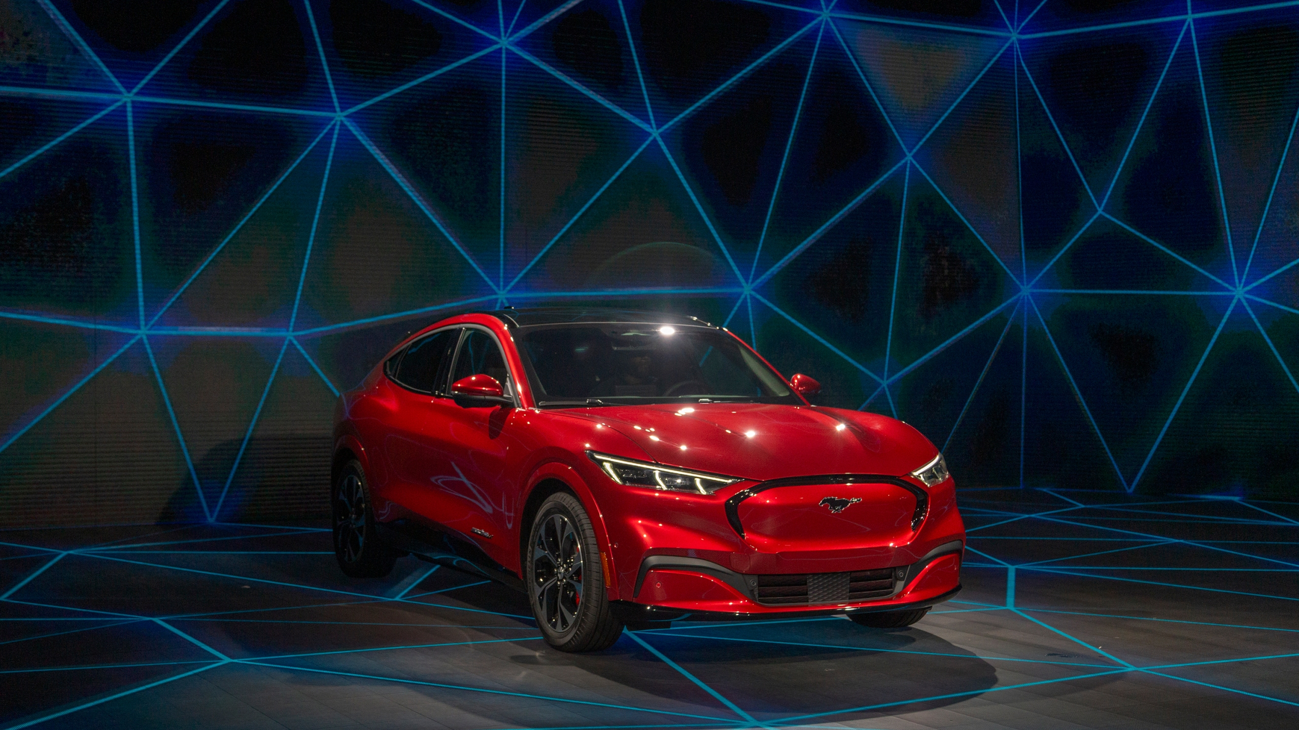 Ford is no longer taking orders for the first edition of its new electric Mustang, the Mach-E. (Credit: David McNew/Getty Images)