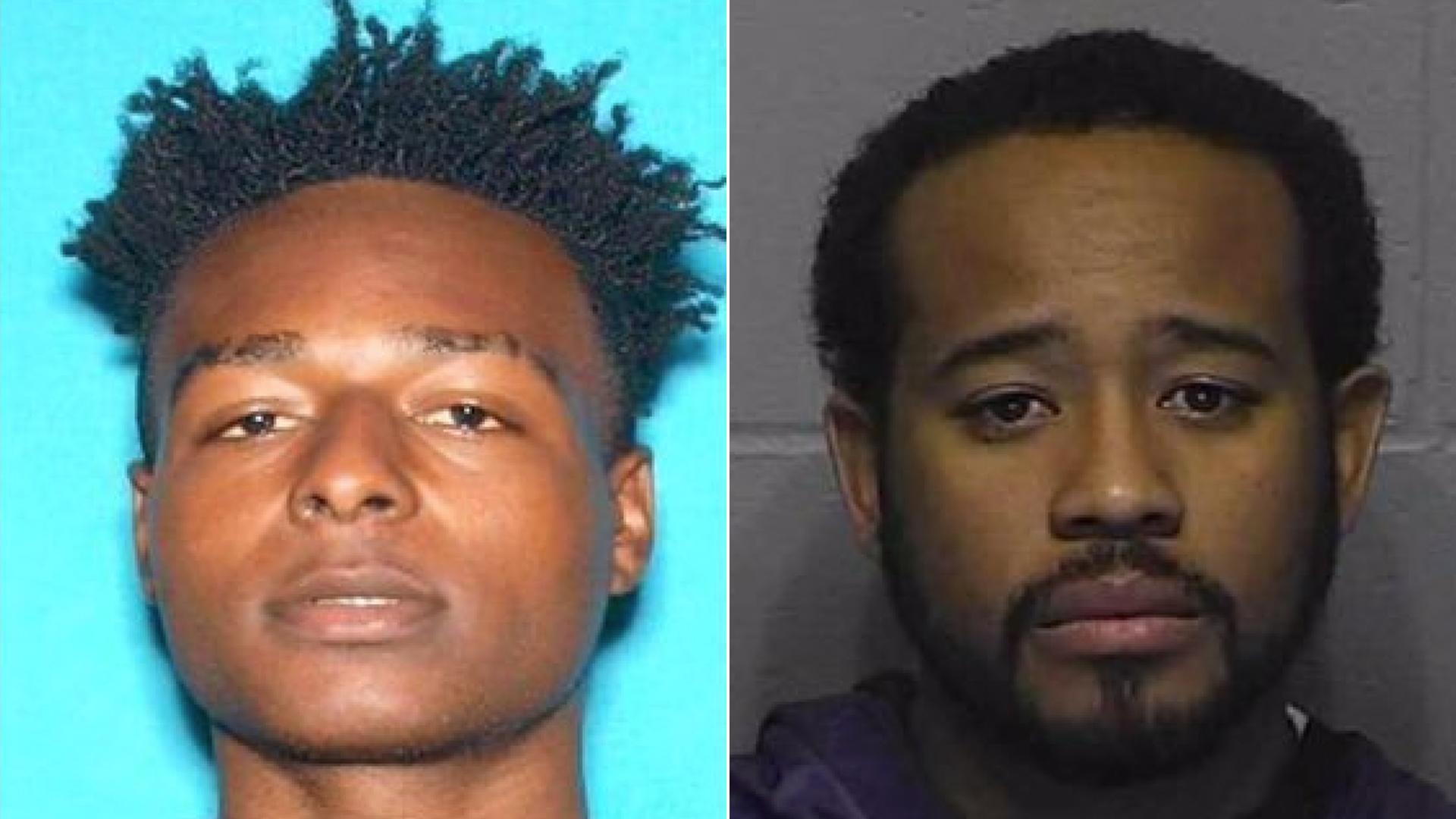 Homicide victim Adrian Dewayne Johnson, 23, of Inglewood, left, and homicide suspect Lancelot Joshua Wilburn, 38, of Bellflower, pictured in photos released by the Inglewood Police Department on Dec. 6, 2019.