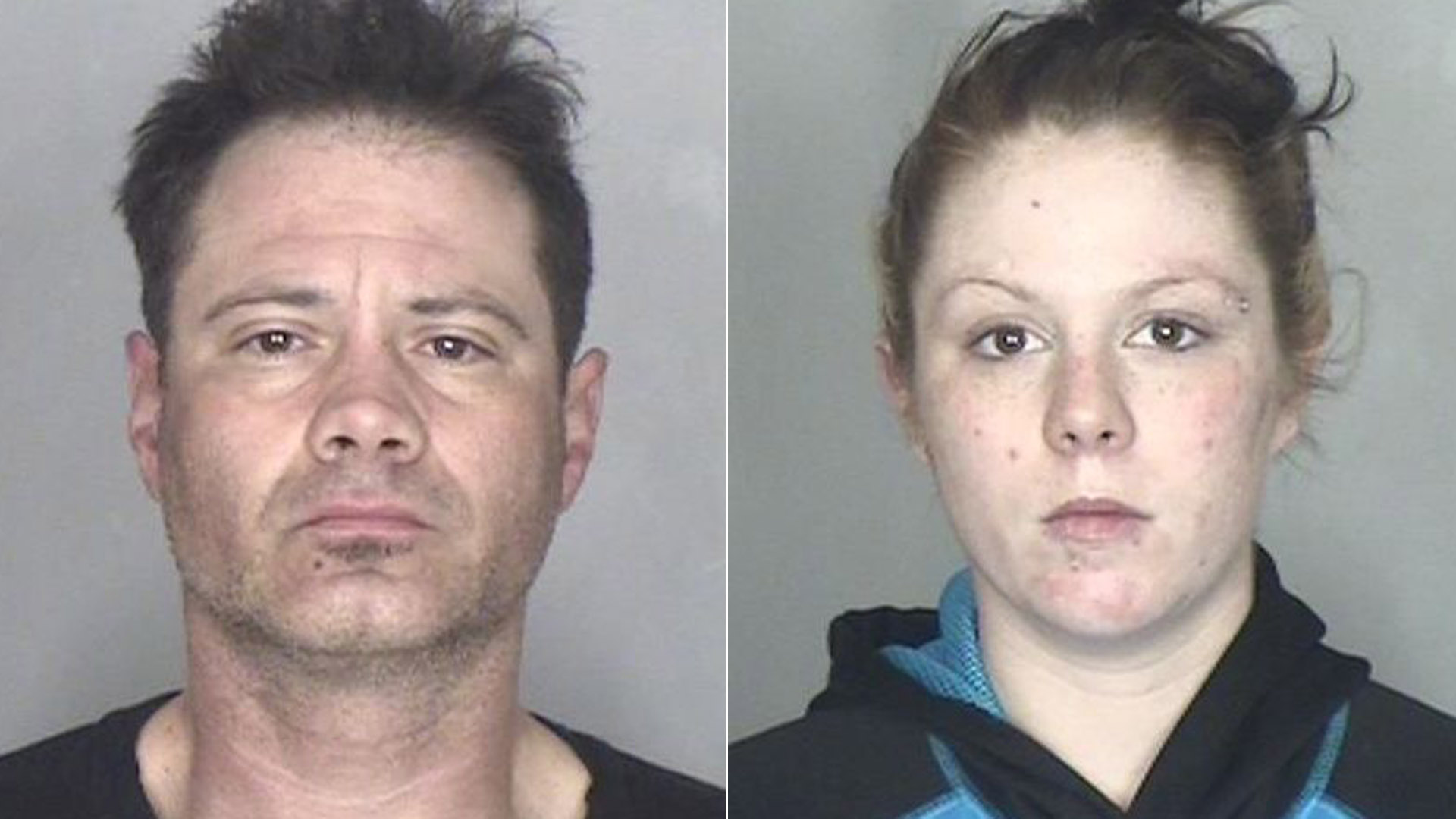 Jeremy Blumlein and Breanna Maier are seen in booking photos released by the Butte County Sheriff's Office on Dec. 24, 2019.