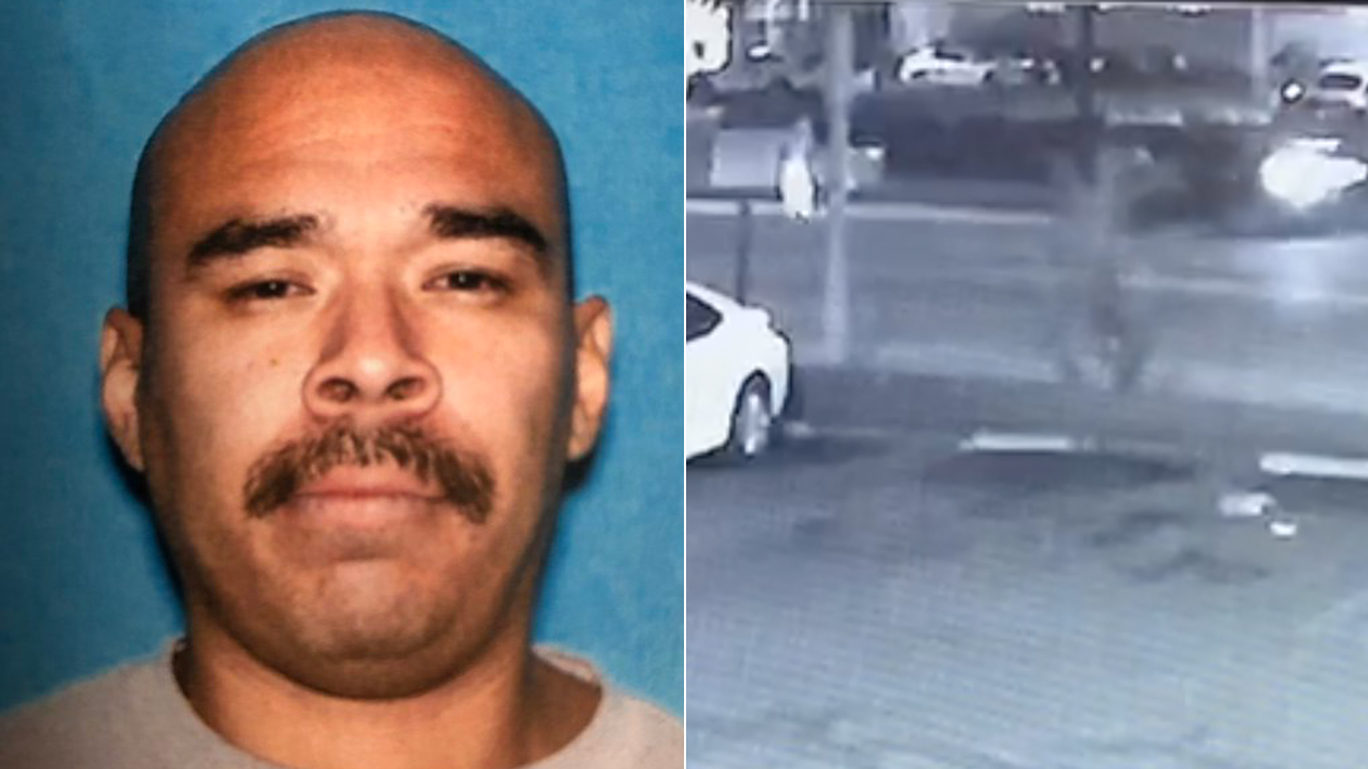 Joel Cruz appears in a photo and surveillance video released by the Los Angeles Police Department in December 2019.