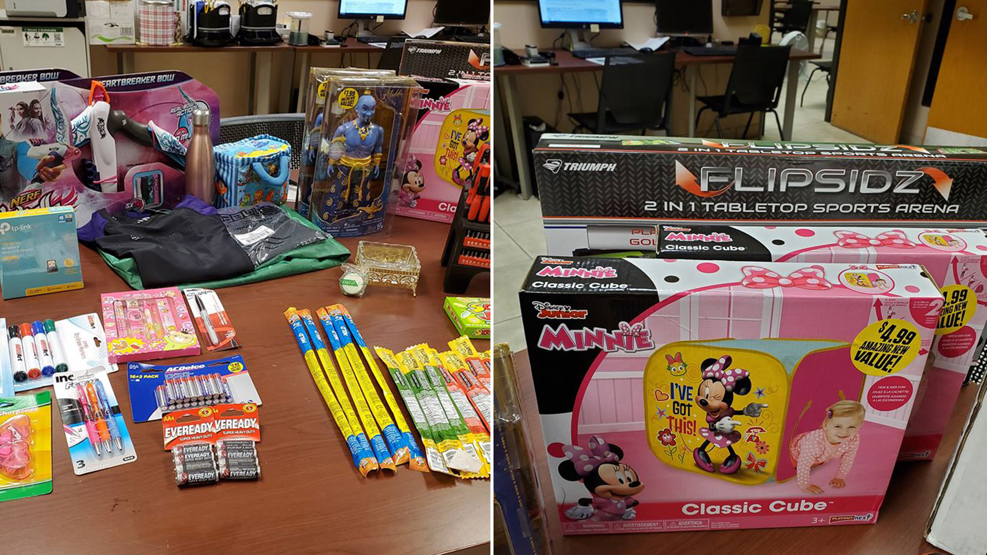 "The Riverside County Sheriff's Department released these photos on Dec. 24, 2019 of packages recovered from a ""porch pirate."""