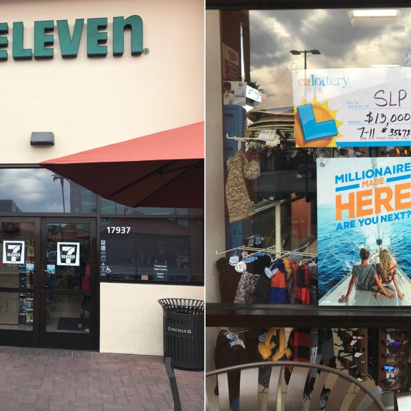 A 7-Eleven at 17937 MacArthur Blvd. in Irvine, seen in these photos released by the California Lottery, sold a winning SuperLotto Plus ticket on Dec. 21, 2019.