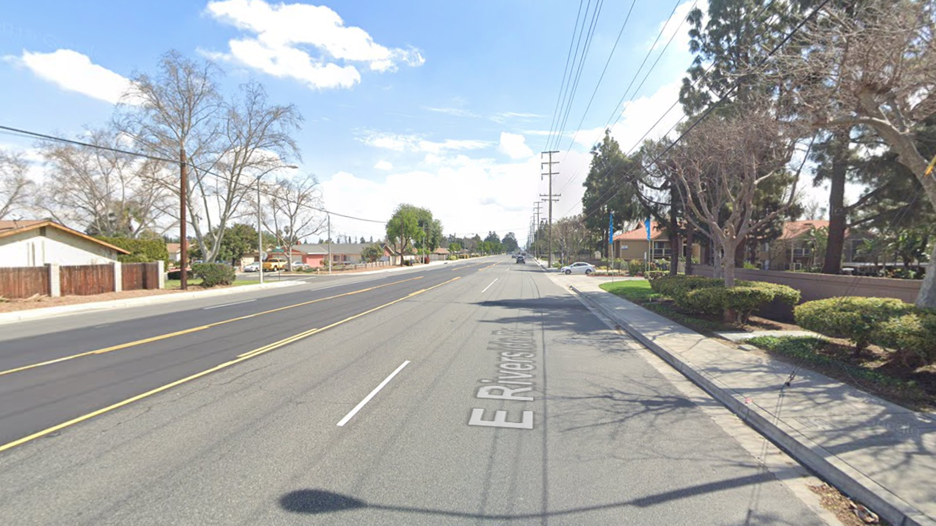The 2800 block of East Riverside Drive in Ontario, as viewed in a Google Street View image.