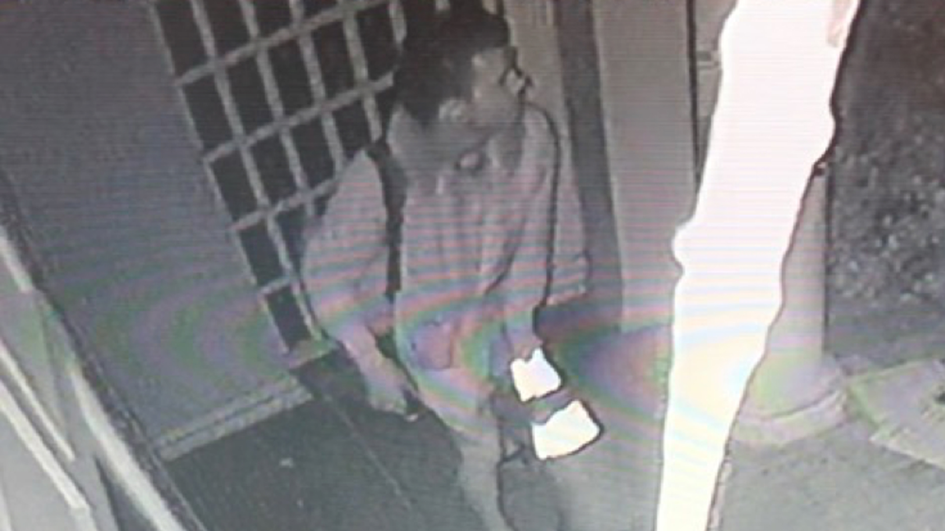 A man suspected of ransacking a Beverly Hills synagogue is seen on surveillance video on Dec. 14, 2019. (Credit: Beverly Hills police)