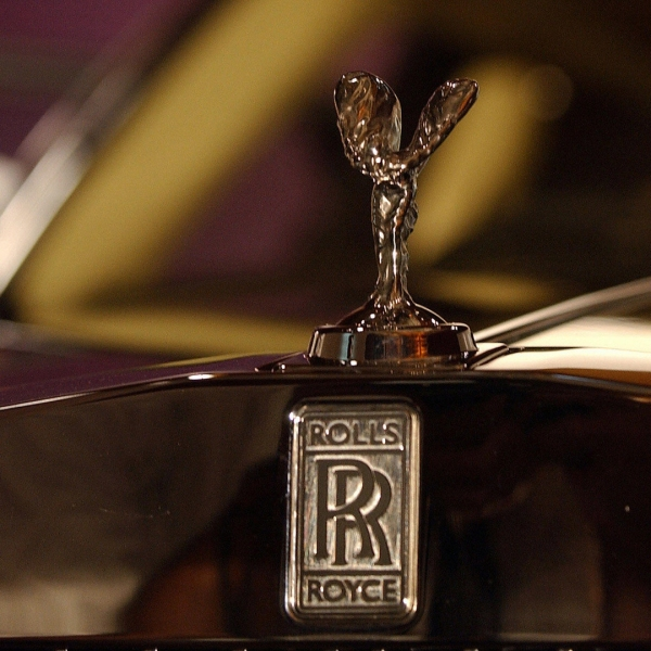 The Rolls Royce emblem is displayed in a file photo. (Credit: Sebastian D'Souza/AFP/Getty Images)