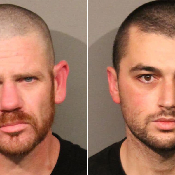 Jacob Booth, left, and Movses Dermishyan are seen in booking photo released by Roseville police on Dec. 21, 2019.