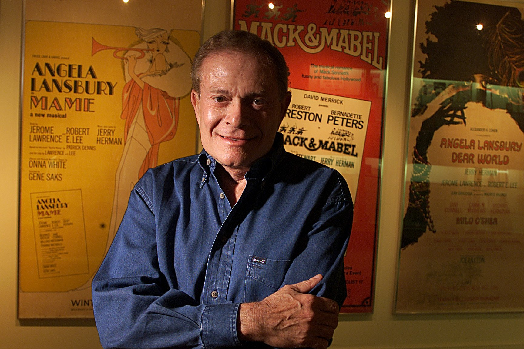"""Jerry Herman, the beloved Broadway composer and lyricist who penned musicals like """"Hello, Dolly,"""" """"Mame"""" and """"La Cage aux Folles,"""" has died. He was 88. (Credit: Robert Gauthier/Los Angeles Times via Getty Images)"""